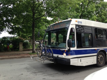 Bike on Bus, Fredericton, NB - KP - July 2014