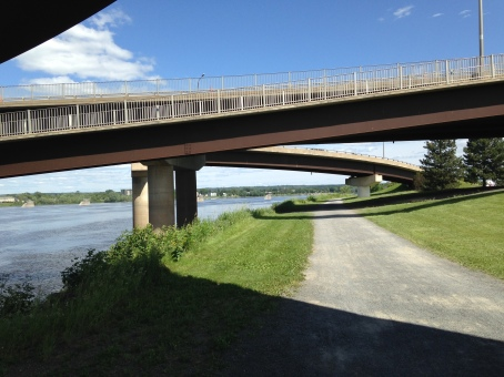 Walking/Cycling Trail, Fredericton, July 2014-KP